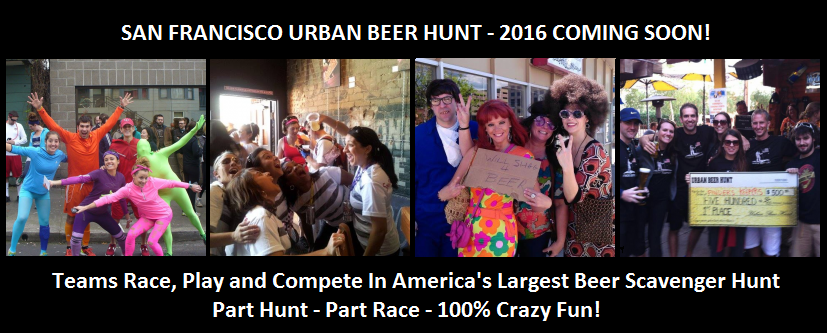 San Francisco Urban Beer Hunt - America's Largest Beer Scavenger Hunt